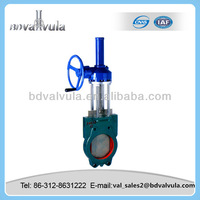 slurry bevel gear knife gate valve gear operated