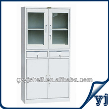 Office Furniture Sliding Sale Modern Glass File Cabinet/ Glass Door Steel File Cabinet