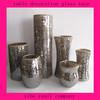 Sammshed Sparkling Mosaic Brown Glass Vase Unique Modern Home Decor