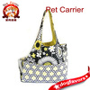 Black, White and Green Large Floral Small Dog Carrier