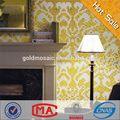Lyy Whterproof telha de ouro prata branco bisazza banheiro , piso de mosaico de vidro projeto