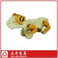 hecho a mano de madera de los animales ovejas de juguete tire