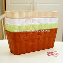 Colors Customized Water Proof Wood Grain Flower Pots