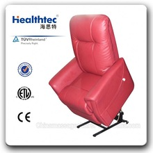genuine leather purple small recliner chair