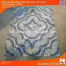 natural slate flagstone paving mat mesh landscaping stone