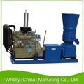 ce flat die wood pellet fábrica de ração animal que faz a máquina com motor diesel