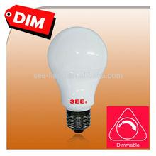6W 9W 12W LED bulb plastic casing A19 LED bulb e26 e27 b22 ul energy star ce