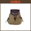 Canvas and genuine leather traveling/sport backpack bag