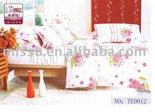 100% cotton printed bridal bedding set for adult