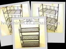 3-layer folding metal plant shelf for garden or indoor decoration