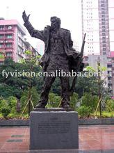 Soldier antique bronze statue