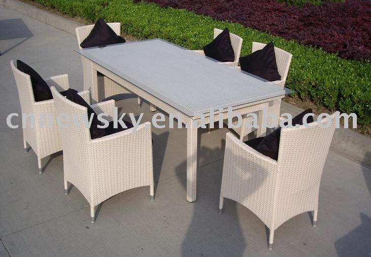 Jardin en rotin meubles de salle manger restaurant for Set de table en osier