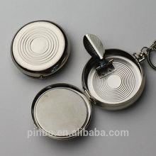portable metal pocket ashtray with keychain