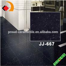 Crystal Stone, Glossy Black Porcelain Polished Floor/Wall Tiles