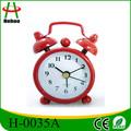 de metal de mesa mini reloj de alarma para regalo de la promoción
