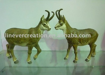 wood carved chamois craft