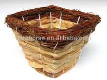 Water Hyacinth Fruit Basket With Rattan Added