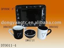 4pcs tableware porcelain