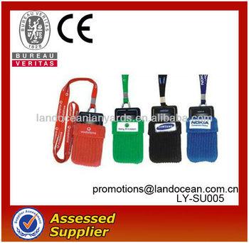 Fashion sock mobile phone holder lanyard