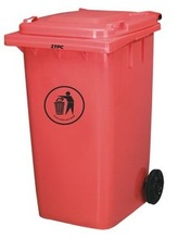 240L outdoor dustbin plastic sale price with lid&wheel