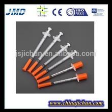 disposable insulin syringe 0.3ml 0.5ml 1ml for medical use