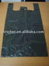 Black plastic grocery bag