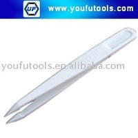 705B White Plastic Conductive Anti-static Tweezer(Fine Tips), 115mm plastic tweezer