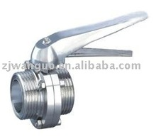 sanitary forged electric actuator butterfly valve with the clip-on handle