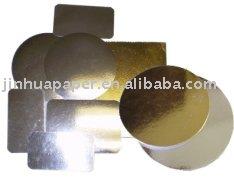 Ouro prata folha de laminado bases bolo