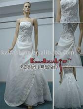 EB814 Victoria 2012 Hot Sale Ruffled Strapless Organza Discount Wedding Dress