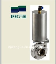 Sanitary stainless steel clamp pneumatic butterfly valve