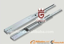 45mm telescopic ball bearing drawer slide channel soft closing