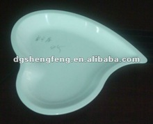 melamine heart-shaped plate