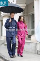 OEM factory suit Pongee pvc emergency waterproof rainwear rain suit windproof outdoor workware waterproof breathable rain suit