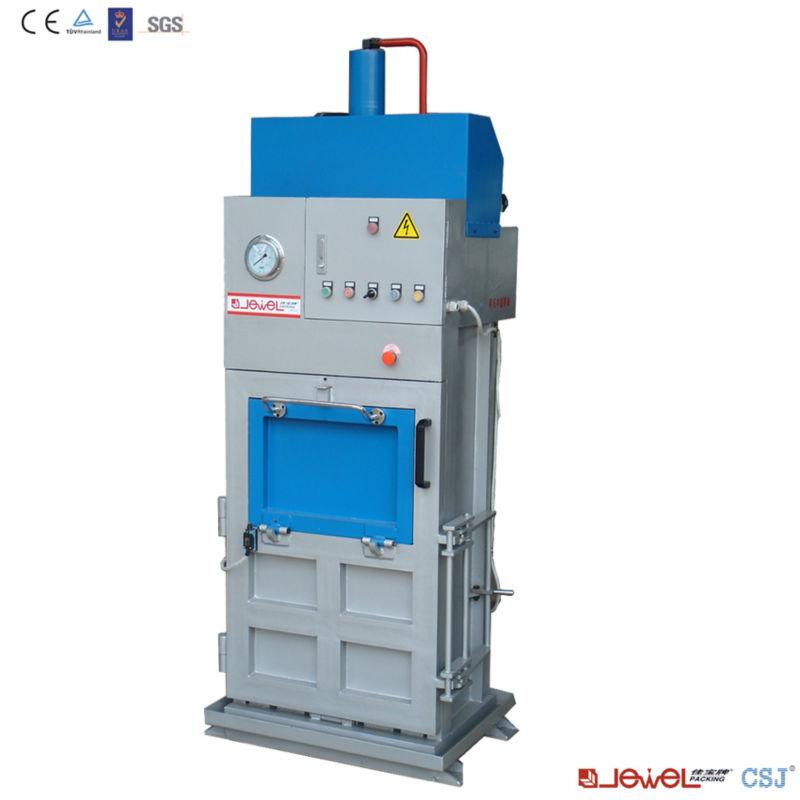 Plastic film baling press