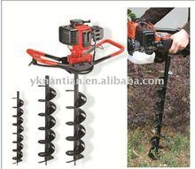 Yeni 49cc ce onaylı toprak matkap profesyonel bir adam el kullanımı benzinli toprak burgu, delik kazma, toprak matkap