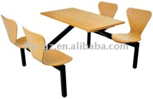 fast food table and chairsPublic dining furniture table