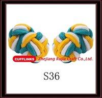 Handmade Silk Knot Cufflinks for men colorful cufflinks