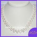 collier d'eau douce de perle de bijoux de mode de forme de bouton de 8-9mm
