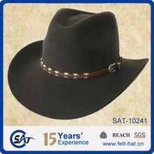 blocked waterproof 100% wool felt cowboy hat,OUTBACK style