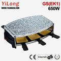 Hot pedra grill set, 650w, 6 raclette panelas, gs( ek1)