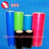 packing lldpe stretch film blue green red orange black for privacy protection or goods easily distingush
