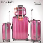 stylish hard case strong 100% PC travel trolley bag