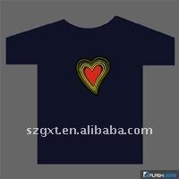 2012 fashinable EL Wireless Sound-Active T-shirts /wireless flashing t-shirt