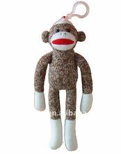 sock monkey knit stuffing toy
