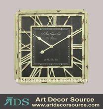 Antique wooden flower Wall Clock