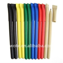 2014 all kinds of colored recycle paper advertising ball pen for students
