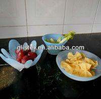 Alabaster marble color glass bowls