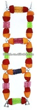 2013 new design colorful loofah ladder bird toys