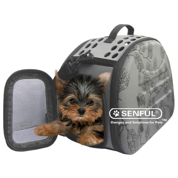 Sdt3043b cabo de lujo portátil plegable portador del perro